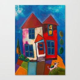 A Ruff Night Canvas Print
