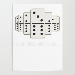 It Just Takes One To Fall Tiles Puzzler Game Gift Poster
