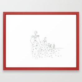 paper_4 Framed Art Print