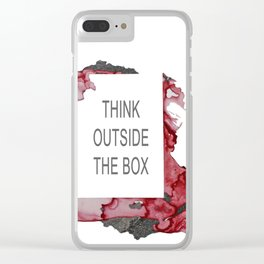 Think Outside The Box - Red Clear iPhone Case