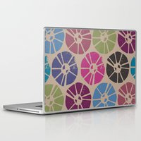 contemporary Laptop & iPad Skins featuring CONTEMPORARY FLOWERS by HAUS OF DEVON