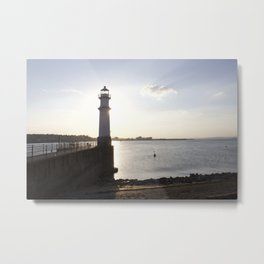 Leith Lighthouse Edinburgh Metal Print