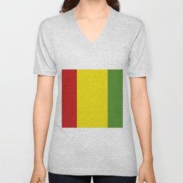 guinea flag Unisex V-Neck