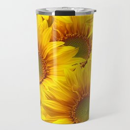 Yellow Mellow Sunflower Bouquet #decor #society6 #buyart Travel Mug