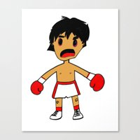rocky Canvas Prints featuring ROCKY by Christophe Chiozzi