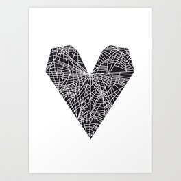 Map of a Rejected Heart Art Print