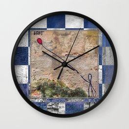 Lost - blue graphic Wall Clock