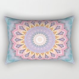 Mandala aquamarin Rectangular Pillow