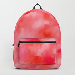 Blush Cream Coral Floral Abstract Backpack
