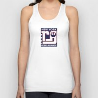 nfl Tank Tops featuring NY Rebel Alliance - NFL by Steven Klock