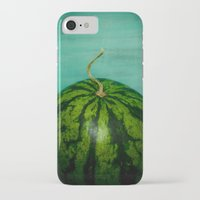watermelon iPhone & iPod Cases featuring Watermelon by Olivia Joy StClaire