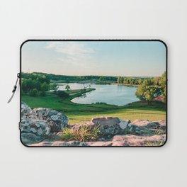 Dawn sunlight at a Beautiful lake. 'Balneario Iporá, Uruguay' Laptop Sleeve