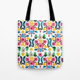 Colorful oriental watercolor floral pattern. Tote Bag