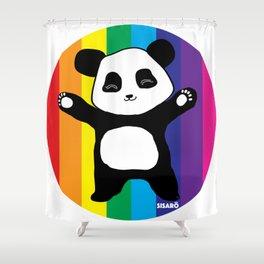 Panda Hugs Shower Curtain