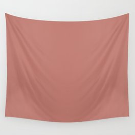 Dreamer of Hearts Dark Pastel Pink Solid Color Pairs To Sherwin Williams Coral Clay SW 9005 Wall Tapestry