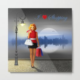 I love shopping Metal Print