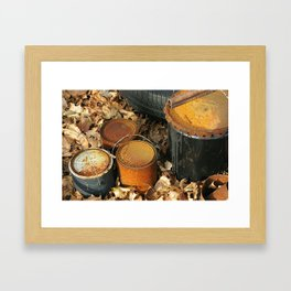 Rusty Cans Framed Art Print