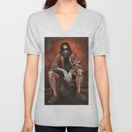 """The Dude, """"You pissed on my rug!"""" Unisex V-Neck"""