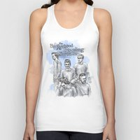 cyrilliart Tank Tops featuring The Brotherhood of the Traveling Sweater by Cyrilliart