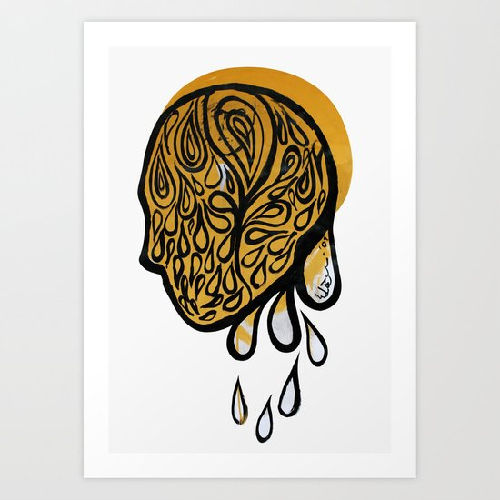 Drops fall Art Print