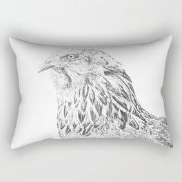 she's a beauty drawing Rectangular Pillow