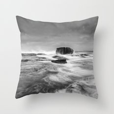 Stormy Seascape Throw Pillow