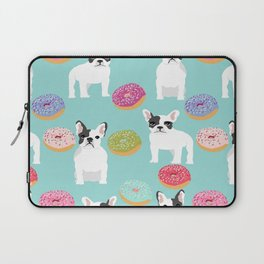 French Bulldog cute mint pastel cute donuts sweet treat doughnuts junk food dessert foods and dogs Laptop Sleeve