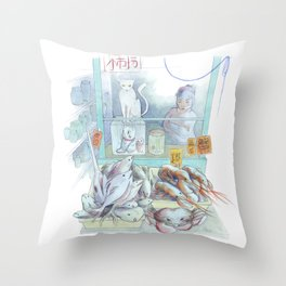 Chinatown NY Throw Pillow
