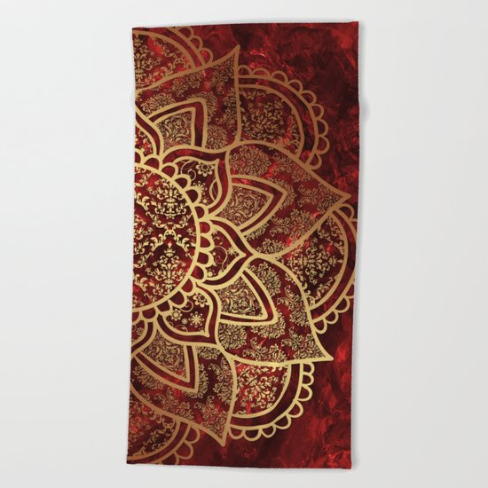 Mandala - Ruby Beach Towel