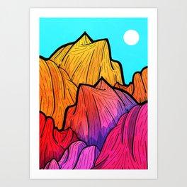 Summer top hills Art Print