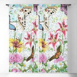 Magical Butterfly Flower Garden Blackout Curtain