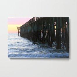 Flagler Pier Metal Print