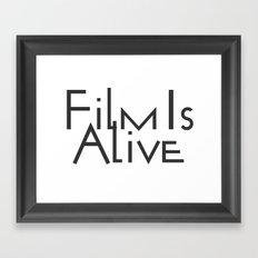 Film Is Alive Framed Art Print