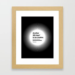 365 Days - White Framed Art Print