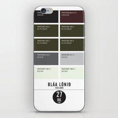 PANTONE glossary - Iceland - Blue Lagoon iPhone & iPod Skin