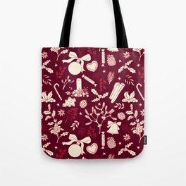 Hand Drawn Christmas Pattern Tote Bag
