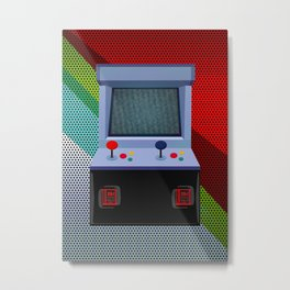 Retro Arcade Joystick Video Game Metal Print