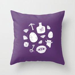 Spyro the Dragon Collectibles Throw Pillow