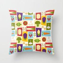Farm to Table_pattern Throw Pillow