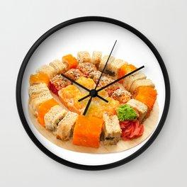 sushi rolls Wall Clock