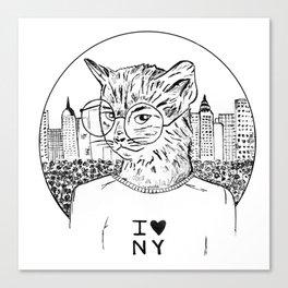 NY Cat Canvas Print
