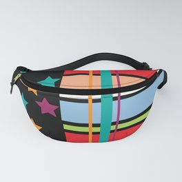 Star Stripe Pattern Fanny Pack