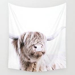 HIGHLAND CATTLE PORTRAIT Wall Tapestry
