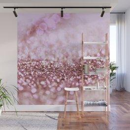 Pink Sparkle shiny glitter effect print - Sparkle Valentine Backdrop Wall Mural