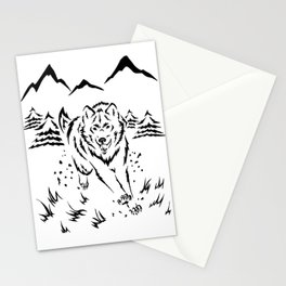 Running Wolf  Stationery Cards