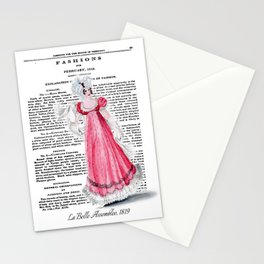 Regency Fashion Plate 1819, La Belle Assemblee Stationery Cards