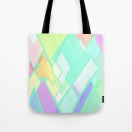 Pastel Colors, Geometric Abstract Art. Tote Bag