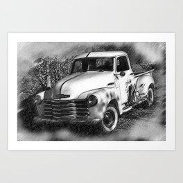 The Chevy Truck Art Print