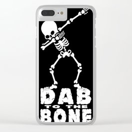 Dabbing Skeleton - Dab To The Bone Clear iPhone Case