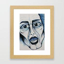Visage 5 Framed Art Print